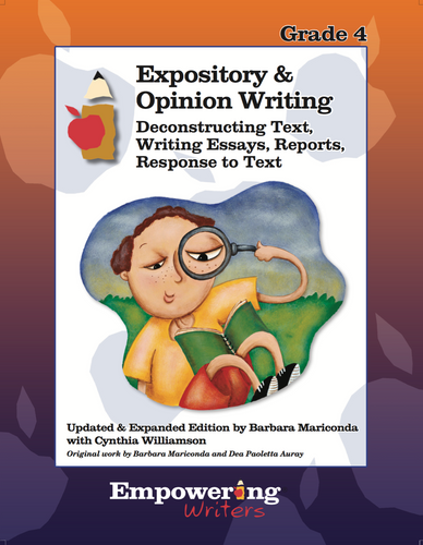 Grade 4  Informational/Expository & Opinion Writing Guide (printed) - Canada