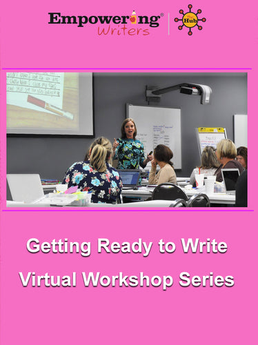 Previously Recorded Getting Ready to Write K-1 Workshop with HUB subscription