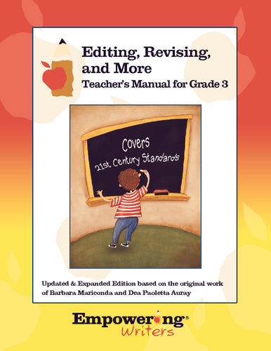 Grade 3 editing and revising cover