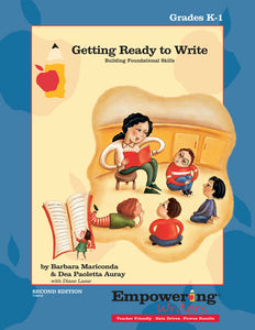 Getting Ready to Write, K-1 Guide (printed - 2015 Edition, out-of-print) - Canada