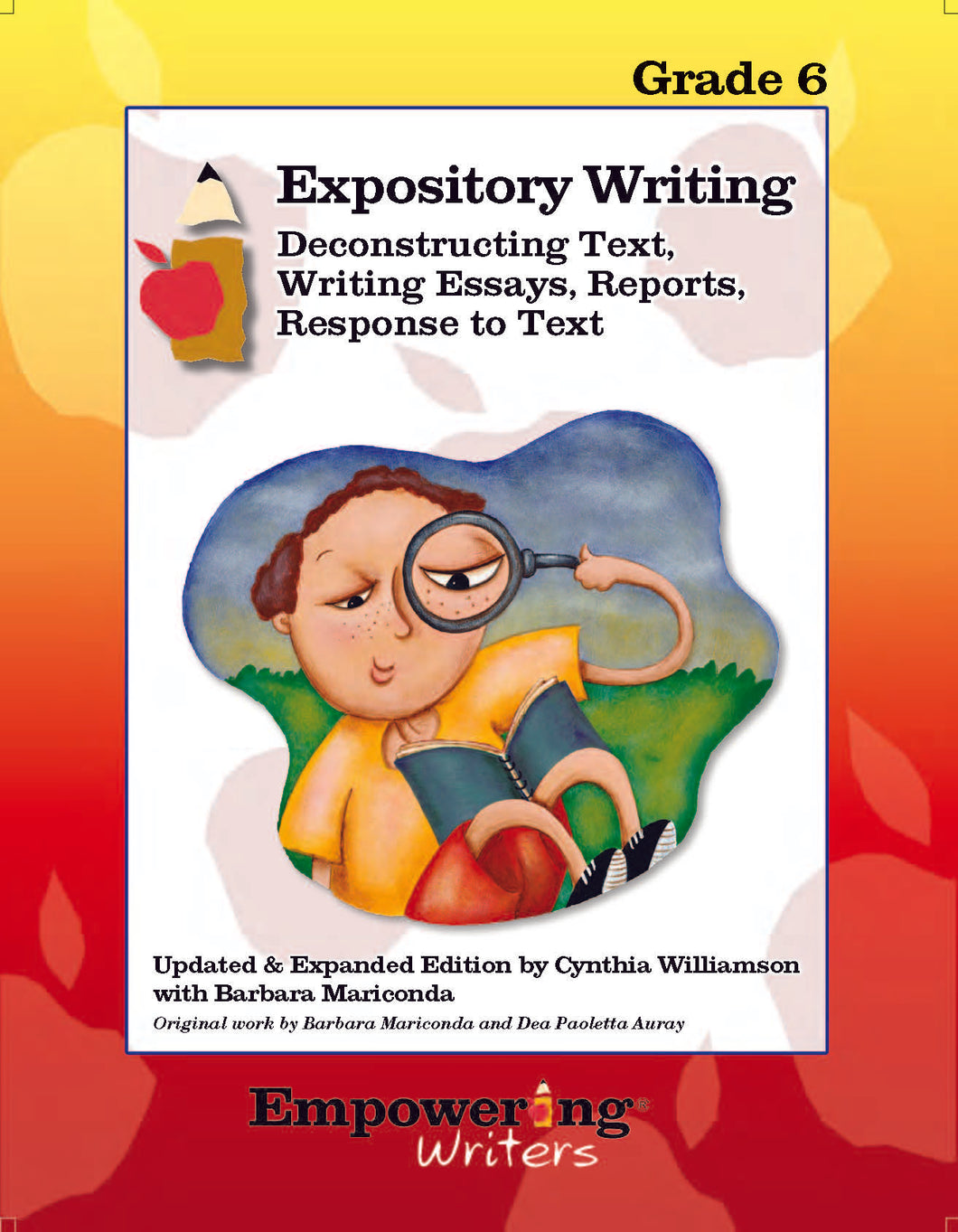 Grade 6 Informational/Expository Writing Guide (printed) - Canada