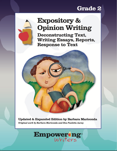Grade 2 Informational/Expository & Opinion Writing Guide (printed) - Canada