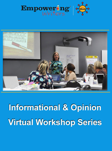 Previously Recorded Informational/Expository Workshop with HUB guide subscription