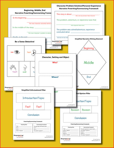 K-1 Writing Digital Poster Set