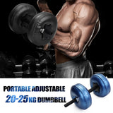 Water-filled Dumbbell Heavy Weights Adjustable Dumbbell Set Workout Exercise Fitness Equipment for Gym Home Bodybuilding