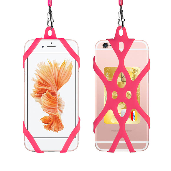 Universal 4.7 to 6.5 inch Silicone Cell Phone Lanyard Case