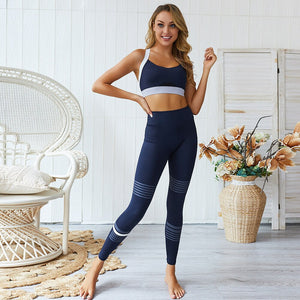Bre | Seamless Royal Blue Workout Set