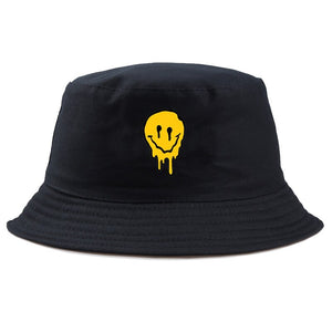 2019 funny smile bucket Hat men women spoof fishing cap brand casual out Cold sunscreen fisherman hats Hip hop casual panama cap