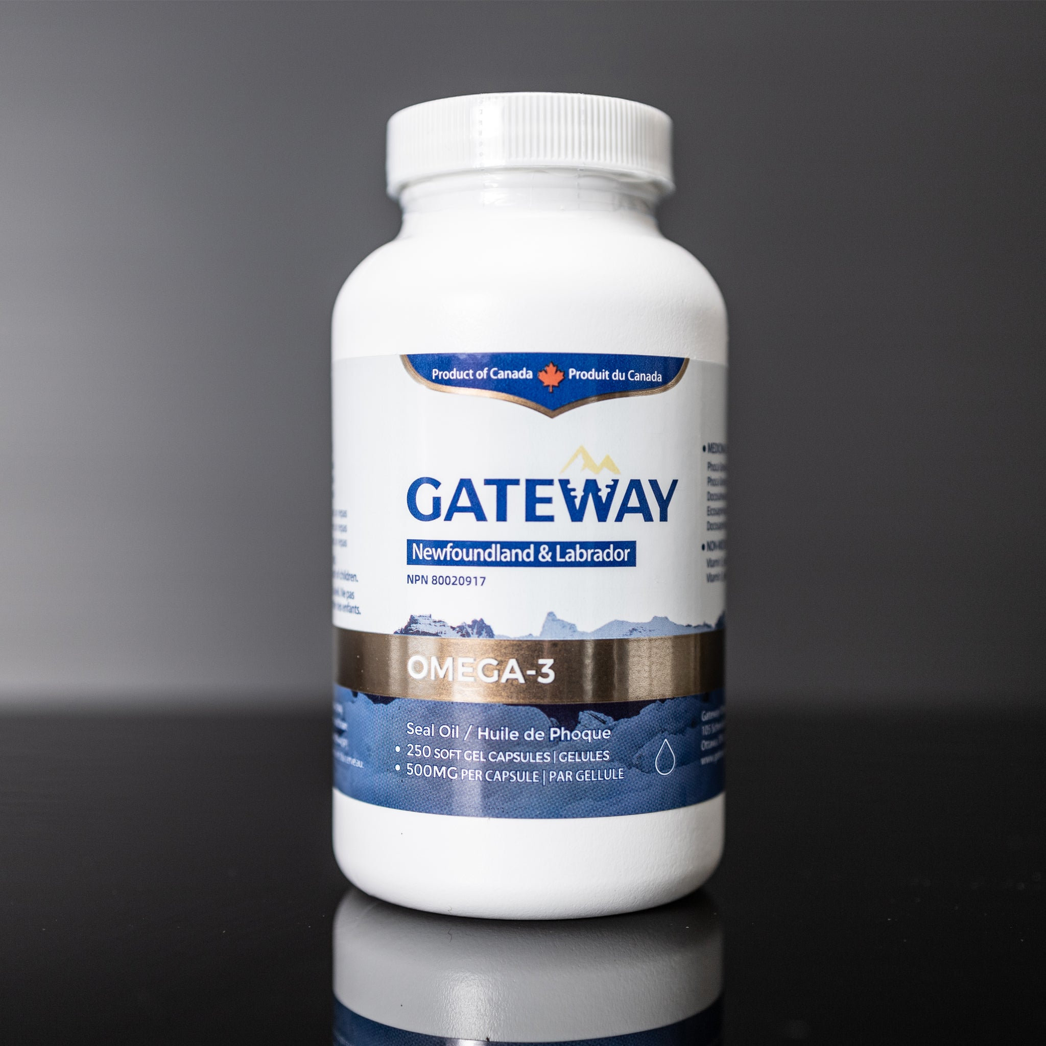 Gateway seal oil omega-3 (250 softgels)