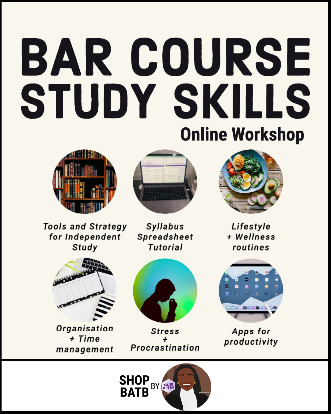 Bar Course Study Skills (Online Workshop) - SHOP BATB