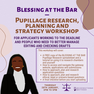 Pupillage research, planning and strategy workshop - SHOP BATB