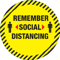 Social Distancing Floor Marker Round 300mm Pack of 10 - Remember Social Distancing