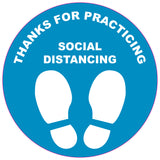 Social Distancing Floor Marker Round 300mm Pack of 5 - Thank You