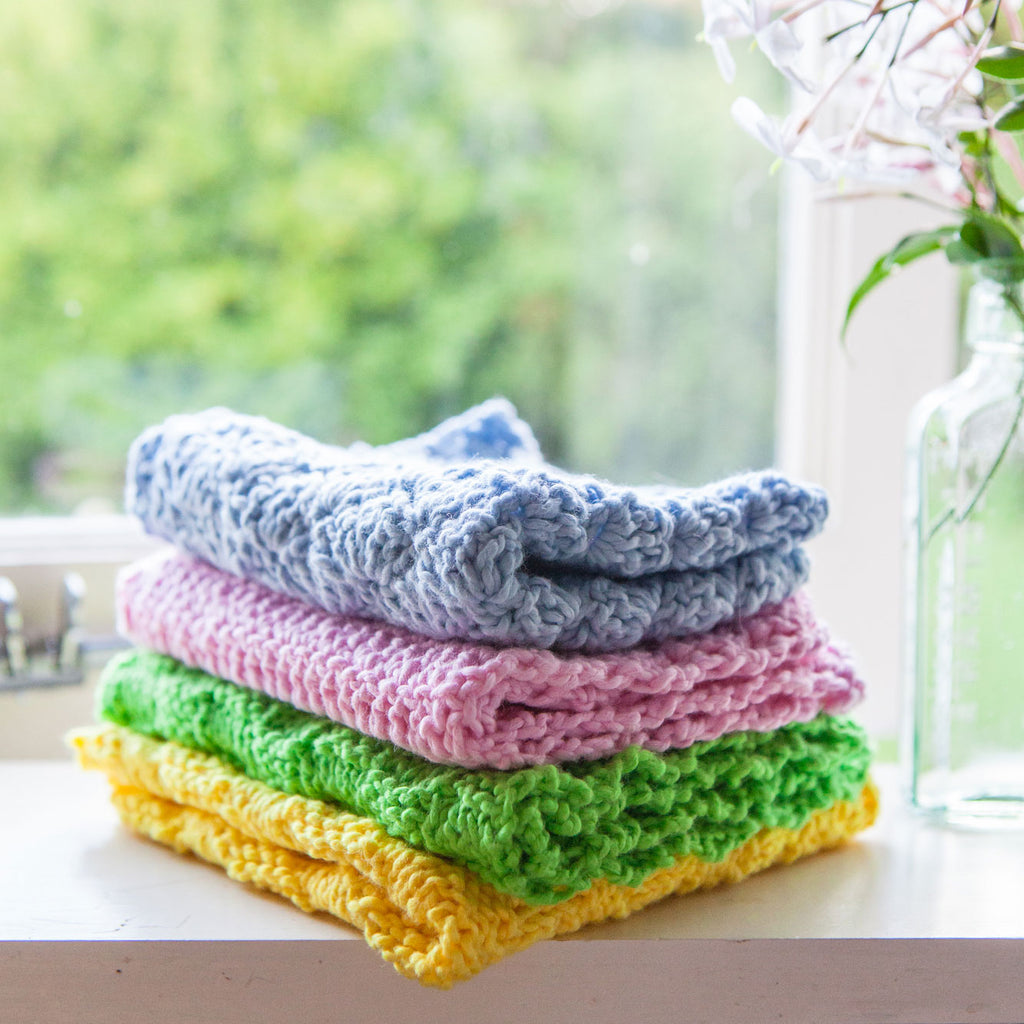 FREE Patterns - Knit or Crochet  Cotton Dish Cloths
