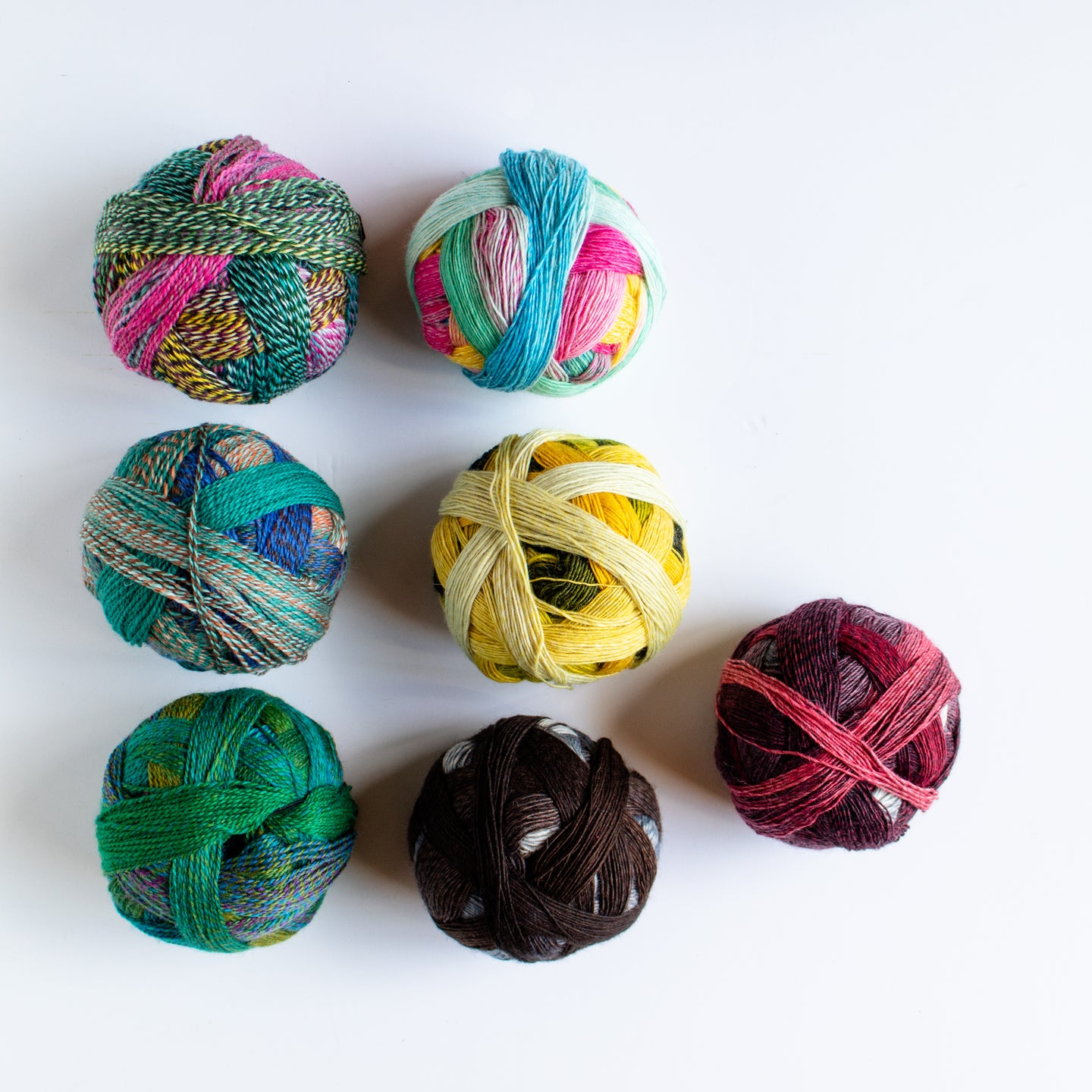 Zauberball Sock Yarn. The range of colours and blends  means you can create some very unique knitwear