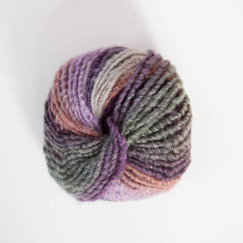 Italian Narciso Super Chunky Ply Acrylic/Merino Wool - Multi Plums, Lilac, Green