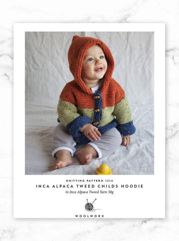 FREE knitting pattern download Childs Hoodie