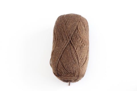 Sock Yarn Inca Spun Heritage 4 Ply Alpaca Merino Wool Nylon - Brown