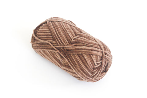 100% 4 Ply Italian Cotton - Multi Browns