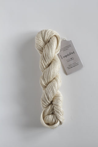 Luxurious Fusion, 3 - 4 Ply Linen/Silk/Alpaca/Wool Mix - Cream