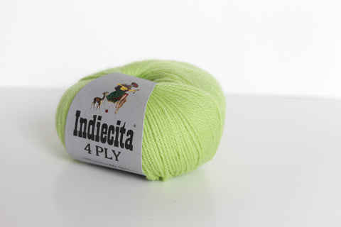 Indiecita 100% Baby Alpaca 4 Ply Wool Equivalent - Lime