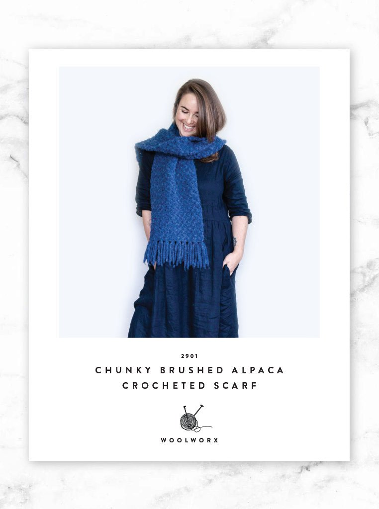 FREE Chunky Scarf Crochet Pattern download 2901 - Alpaca Brushed ...