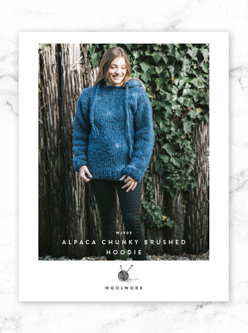 FREE Chunky Knit Hoodie Pattern 2905 - Alpaca Brushed Chunky