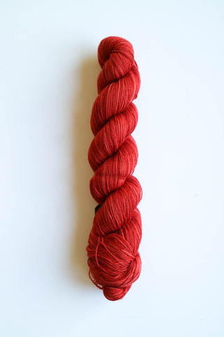 6 Karat Wool and Silk 3 Ply Yarn - Rosary Red