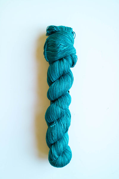 6 Karat Wool and Silk 3 Ply Yarn - Lagoon