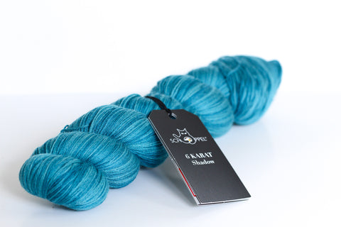 6 Karat Wool and Silk 3 Ply Yarn - Sea View