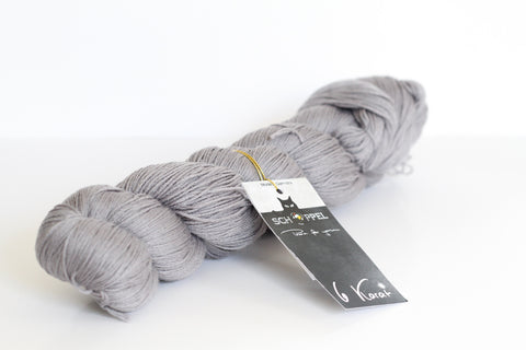 6 Karat Wool and Silk 3 Ply Yarn - Stone Grey