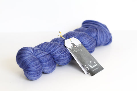 6 Karat Wool and Silk 3 Ply Yarn - Raw Denim