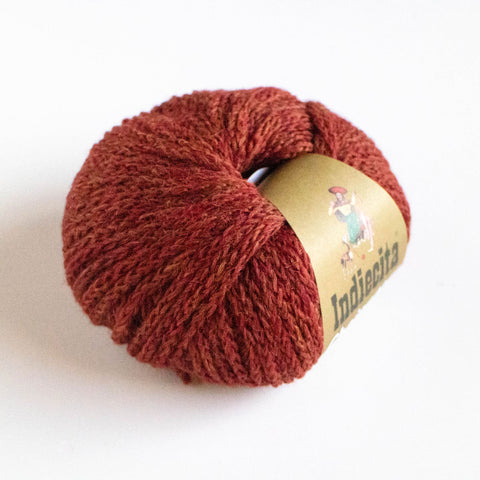 Alpaca-Merino Chainette 10 Ply Wool - Red Brick melange
