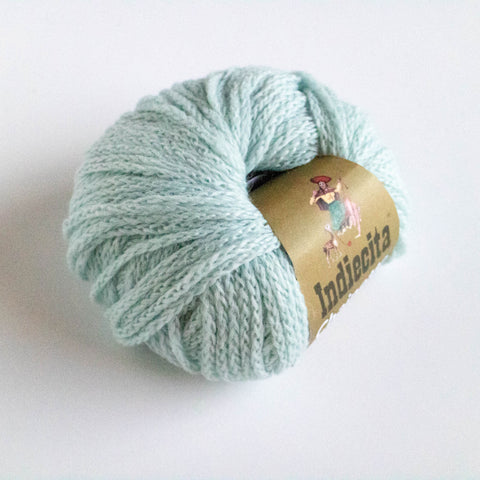 Alpaca-Merino Chainette 10 Ply Wool - Duck egg Blue