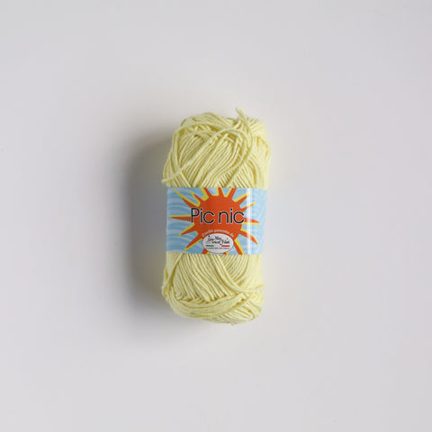100% 4 Ply Italian Cotton Pic Nic - lemon - 43