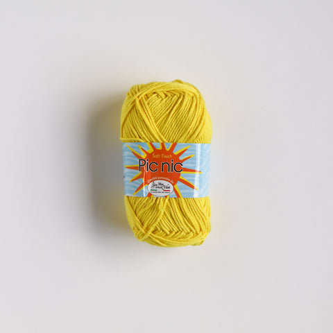 100% 4 Ply Italian Cotton Pic Nic - Yellow - 34