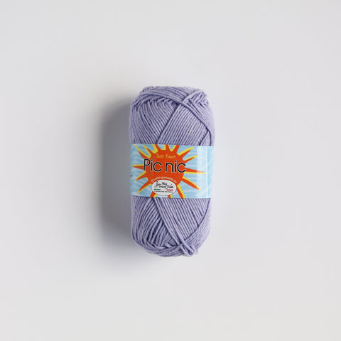 100% 4 Ply Italian Cotton Pic Nic - lilac - 45