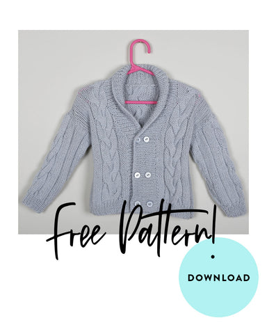 FREE Babies Double Breasted Jacket knitting pattern download 1511
