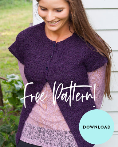 FREE Cap Sleeve Cardi knitting pattern download 1913