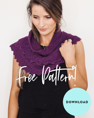 FREE Luxurious Shawlette knitting pattern download 1922