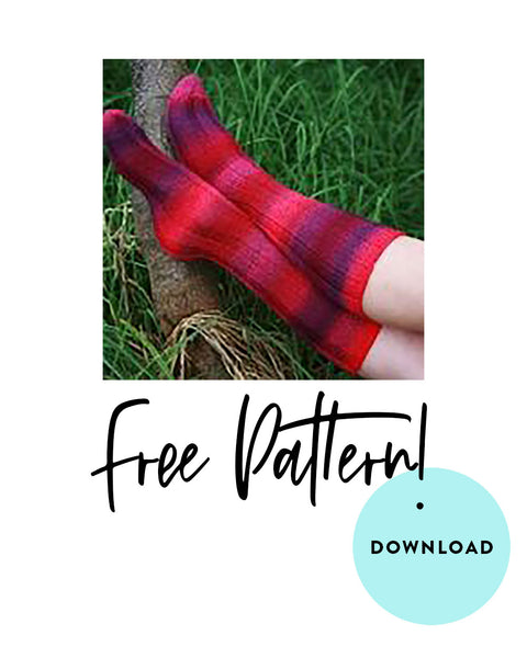 FREE Zauberball Simple Tube Socks knitting pattern download Z101