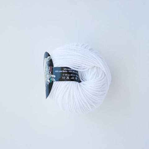 8 Ply Merino White 001