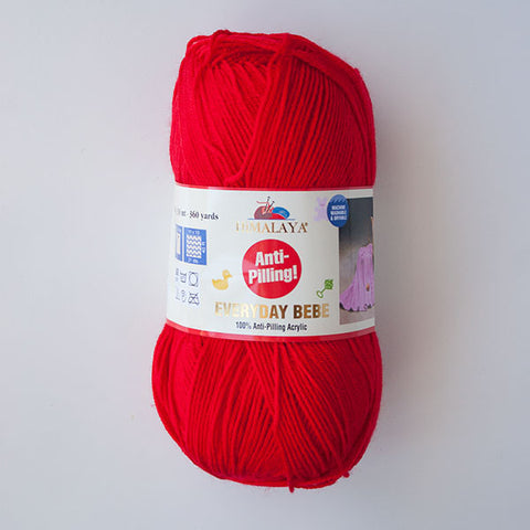 Himalaya Everyday Bebe 4 Ply Acrylic - Red
