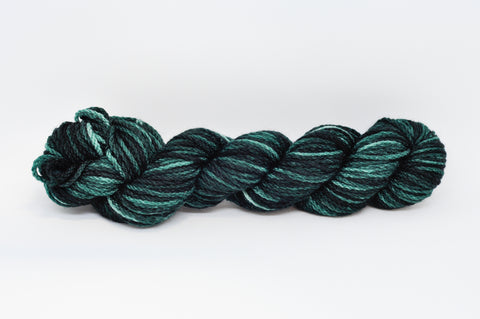 Koigu KERSTI Hand Paint DK Green with a light fleck