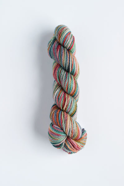 Koigu KERSTI Hand Paint DK Teal with Salmon, Pink and Purple
