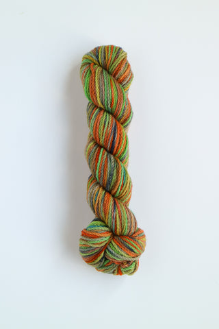 Koigu KERSTI Hand Paint DK Mint Green with Oranges