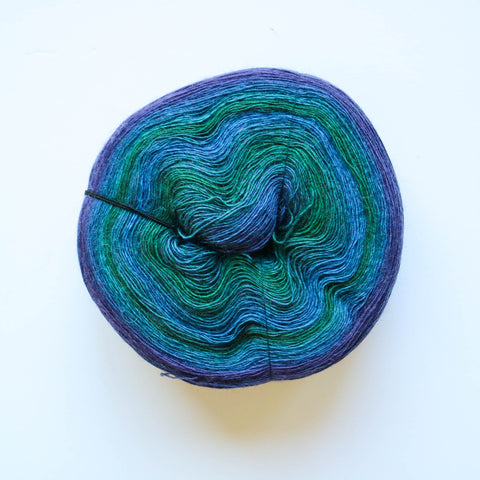 Lace Flower 100% Merino Superwash Fine Wool - Blue Cabbage