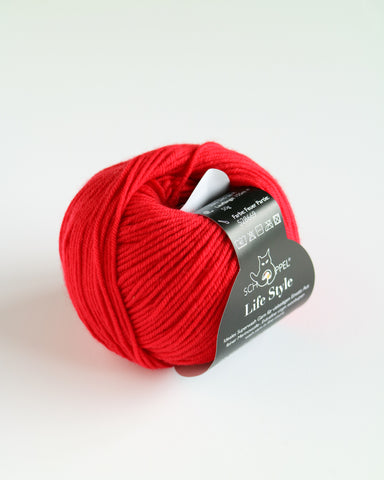 Life Style 4 Ply Merino Super wash - Fire
