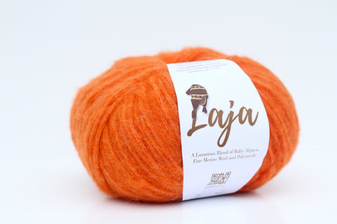 Laja Alpaca/Merino 14 Ply Wool - Bright Orange