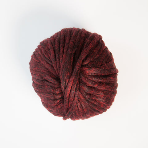 Italian Cangiante Super Chunky Deep Red